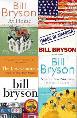 Bill Bryson Books ( The Lost Continent, Made In America, Neither Here Nor There, At Home ) 4 in 1