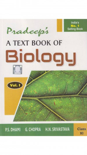 Pradeep's A Text Book Of Biology  Class-11 (Set Of 2 Vol - Vol. 1 & 2)
