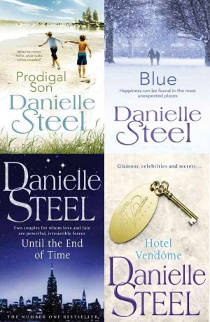 Danielle Steel (Prodigal Son, Blue, Until The End Of Time, Hotel Vendome) 4 in 1
